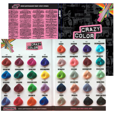 CRAZY COLOR Color Chart A4