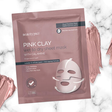 BEAUTY PRO Pink Clay Brightening and Anti-aging Mask